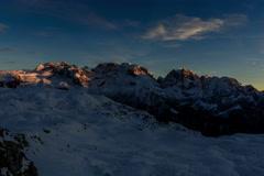 Cima Brenta and Cima Groste, Dolomites winter cold landscape 6K Stock Footage