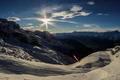 Cima Brenta snow slopes shadows time lapse 6K Stock Footage