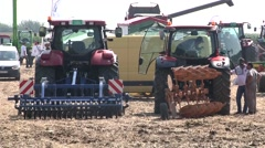 Agricultural machinery fair Stock Footage