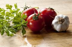 vegetables for seasoning mediterranean cuisine - stock photo