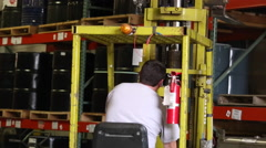 Forklift operator Stock Footage