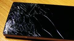 4K Broken Screen Smartphone 4 Stock Footage