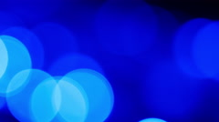 Blue light bokeh background 4K Stock Footage