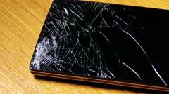 4K Broken Screen Smartphone 5 Stock Footage