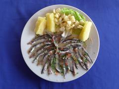 Ceviche de anchoveta in Cerro Azul - stock photo