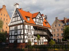 miller's house in gdansk - stock photo