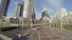 Aerial - David lam park yaletown buildings Stock Footage