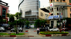 Pan Up View of Bitexco Building - Ho Chi Minh City Vietnam (Saigon) Stock Footage