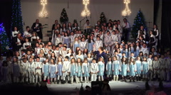 Conductor, musicians and chorus at traditional concert Arkistovideo