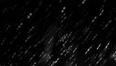 4k blizzard falling rain and snowflakes, matte, wide angle, uhd real stock vi Stock Footage