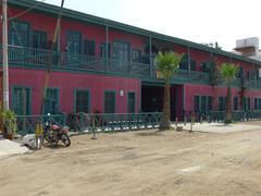 Old customs building in Cerro Azul - stock photo