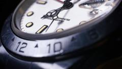Luxury Watchface Sweeping Second Hand Closeup Stock Footage