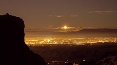 Panning serpent trail moonrise.mp4 Stock Footage