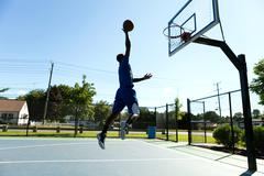 Basketball Dunk Outdoors - stock photo