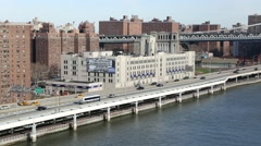 FDR East River Drive and Williamsburg Bridge New York Stock Footage