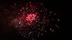 Scotland.Fireworks at the Edinburgh Castel Stock Footage