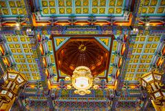 Stock Photo of lamp in chinese temple