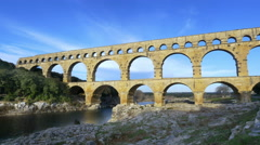 Pont Du Gard Aqueduct - Vers Pont du Gard France - HD 4K+ - stock footage