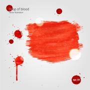 Blood drops and frame - stock illustration