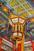 Lamp in chinese temple - stock photo
