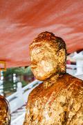 buddha statues wat borom racha kanchana phisake (wat leng noei yi 2) - stock photo