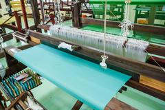 Loom for weaving silk in thailand. Stock Photos