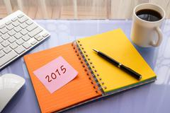 2015 new year resolution for work - stock photo