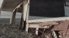 Close up of Wrecked Ship Stock Footage