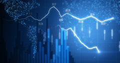Positive Financial chart In 4K Stock Footage