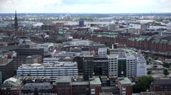 Hamburg aerial view Stock Footage