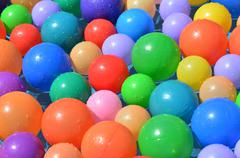 Colorful balls abstract background texture. Stock Photos