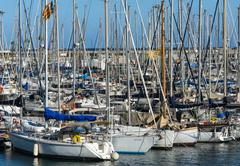 Port in barcelona Stock Photos