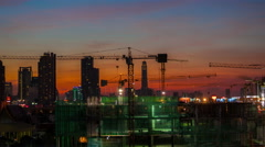 4k timelapse,Group of worker are building construction or mall Stock Footage
