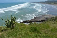Muriwai beach - new zealand Stock Photos