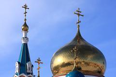 Uspenskiy cathedral. Stock Photos