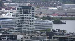 Hamburg HafenCity aerial view Stock Footage