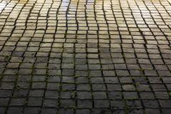 Square Tiles lit up at Night Stock Photos