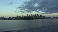 Sydney skyline morning Stock Footage