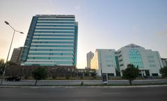 world trade center of accra, ghana - stock photo
