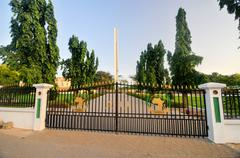 african unity monument - accra, ghana - stock photo