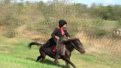 Cossack on a horse Stock Footage
