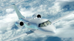 Luxury corporate air travel. Lear jet in HD. - stock footage