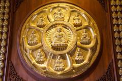 Buddha statues - stock photo