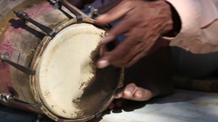 Drums hands, movement, rhythm.  India. - stock footage