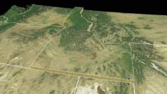 Idaho state extruded on the satellite map of the USA isolated on black Stock Footage