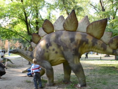 Dinosaur in park. Related clips are in my portfolio in 1920x1080. Stock Footage