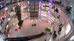 One side of shopping mall Stock Footage