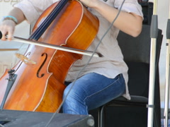 Playing a violoncello. Related clips are in my portfolio in 1920x1080. Stock Footage