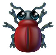 Cartoon insect bug character Stock Illustration