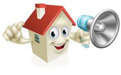 House holding megaphone Piirros